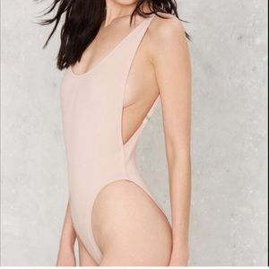 NWT Lioness rose smoke nude bodysuit